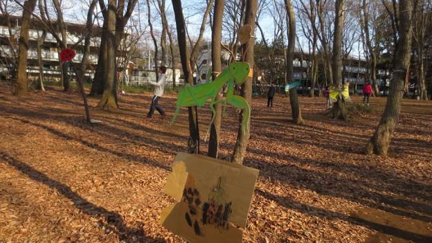 2014年3月23日(日)「プレーパーク」(主催:NPO法人こだいら自由遊びの会)「ワークショップいきもの次元」(ちいさな虫や草やいきものたちを支える会、NPO法人こだいら自由遊びの会、どんぐりの会共催)